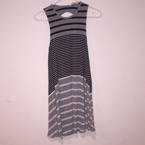Striped dress with open back
